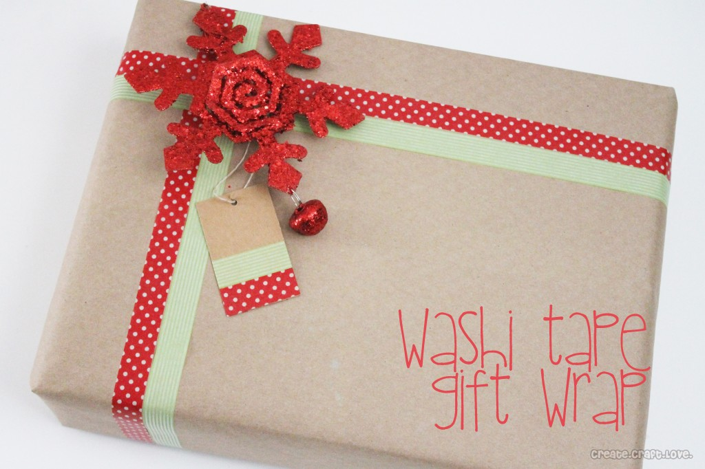 Washi tape gift tags create craft love
