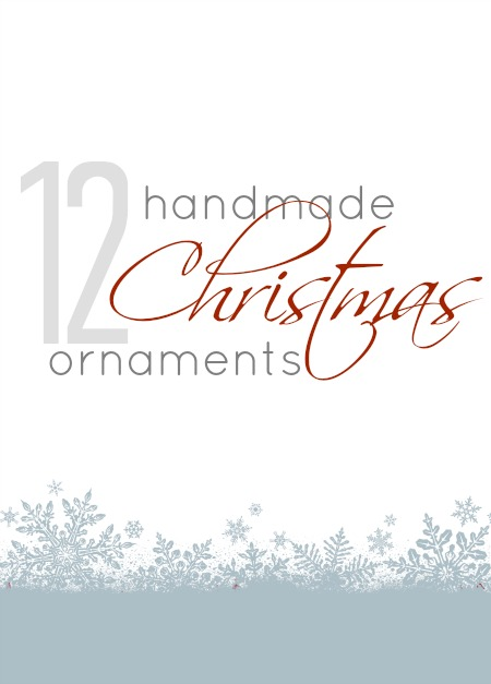 handmade christmas ornaments via SNAP