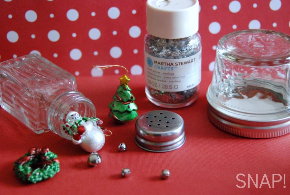 salt and pepper shaker snow globe supplies via SNAP