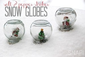 salt and pepper shaker snow globes via SNAP