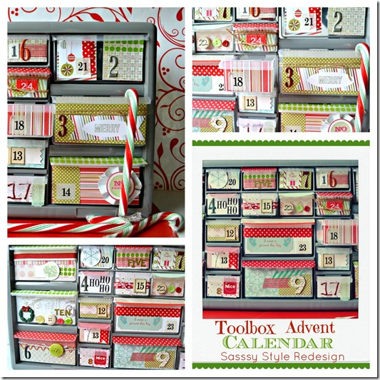 toolbox advent calendar via Sassy Style Redesign