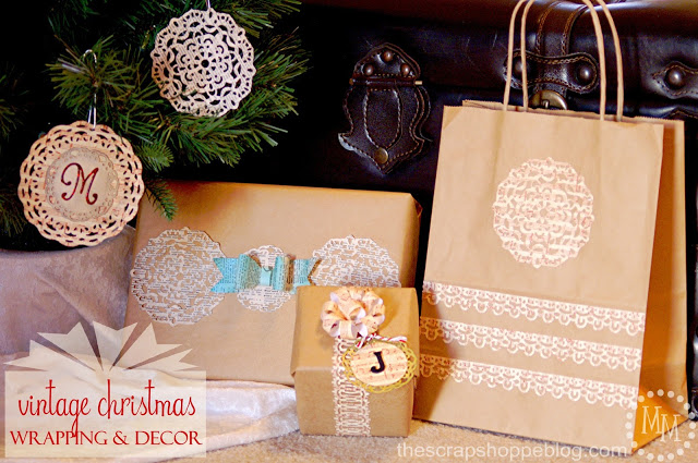 vintage christmas wrapping via The Scrap Shoppe