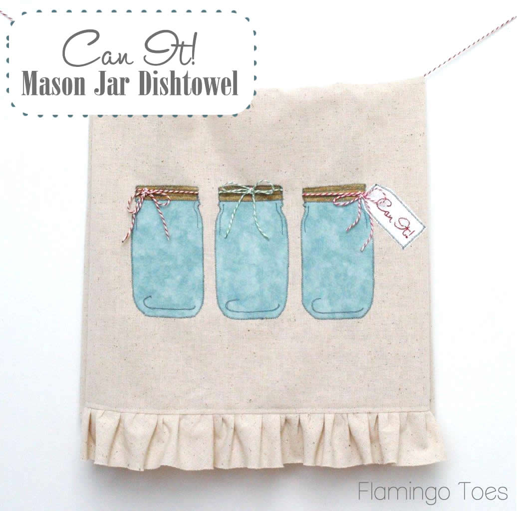 Mason Jar Dishtowel