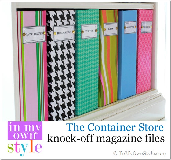 DIY Magazine Containers