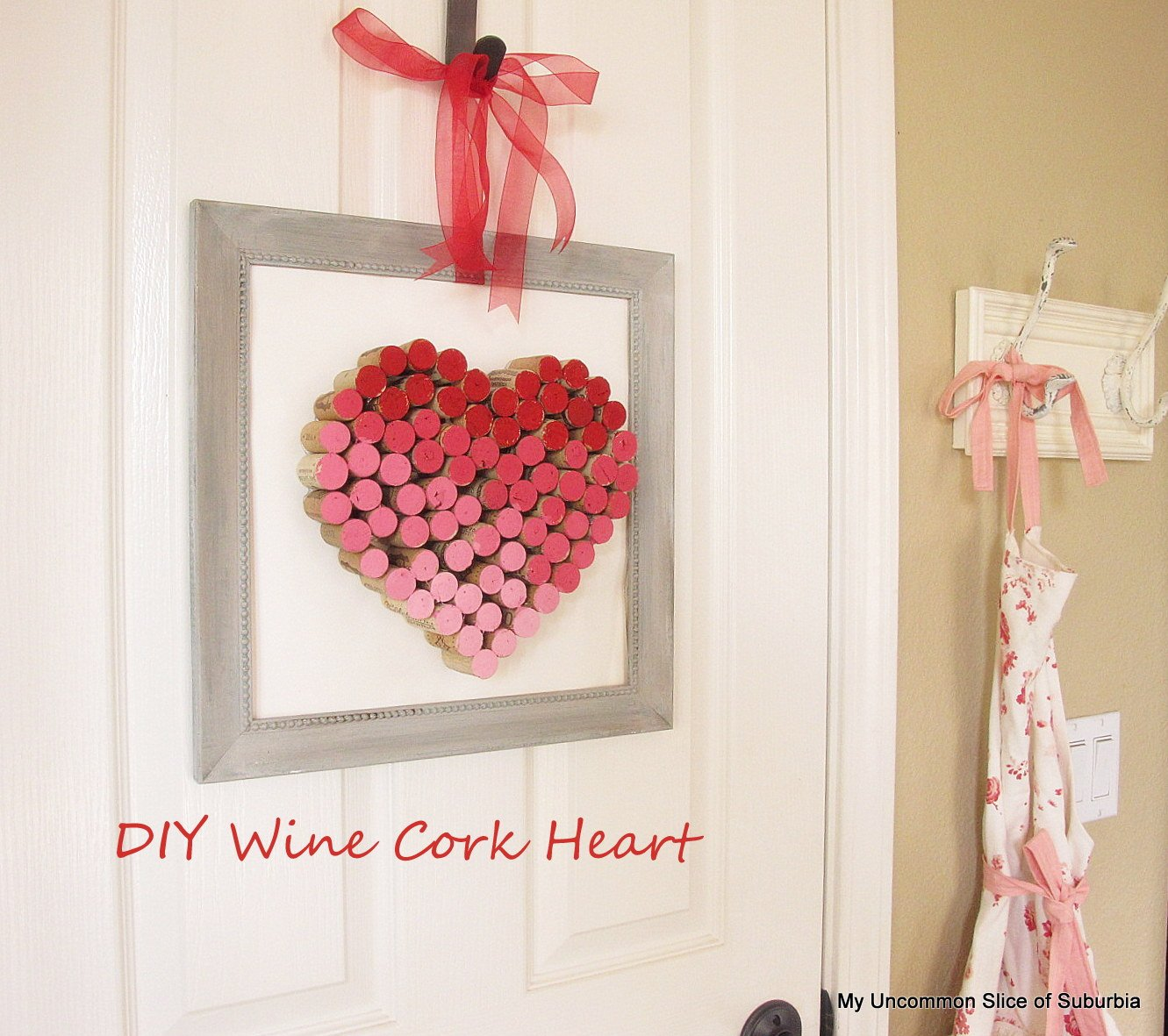 Wine Cork Valentines Day Art