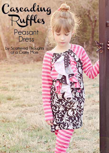 Cascading Ruffle Peasant Dress via Scattered Thoughts of a Crafty Mom