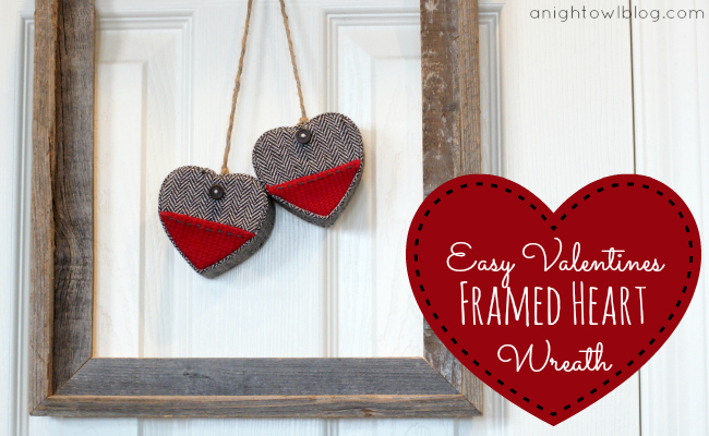 Valentine Frame Wreath via A Night Owl