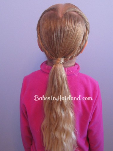 Heart Hairstyle via Babes in Hairland