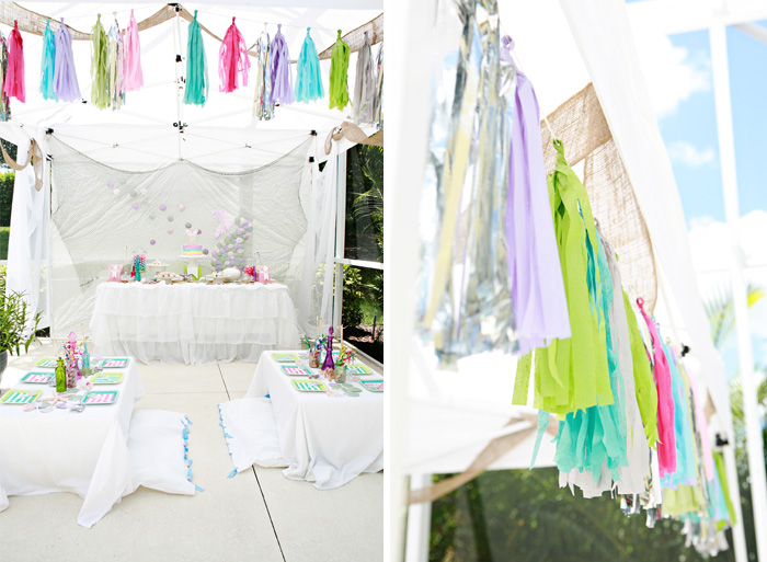 Tissue Tassels for outdoor decor