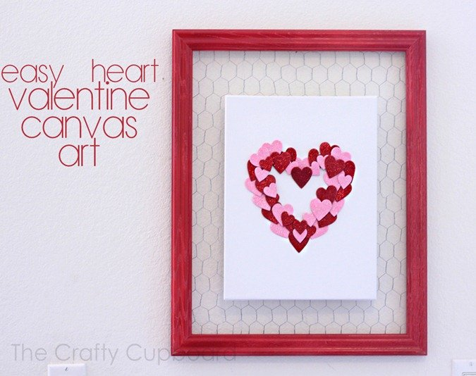 Valentines Canvas Art via Crafty Cupboard