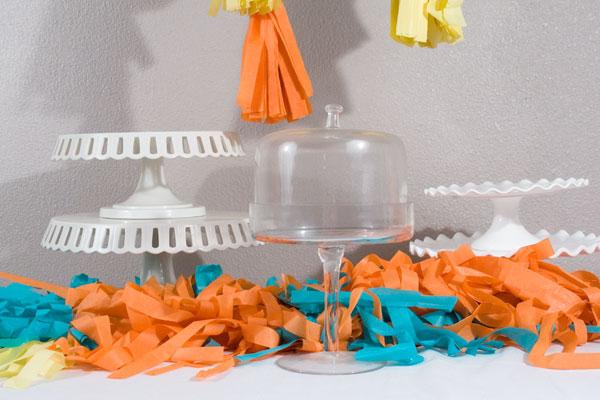 Tissue Tassel tablerunner