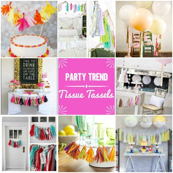 Party Trend – Tissue Tassels