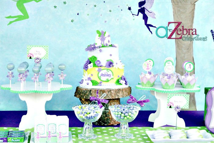 tinkerbell party via a to zebra celebrations