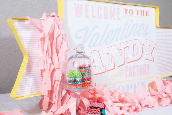 valentine-candy-factory-party-sign via Confetti Sunshine