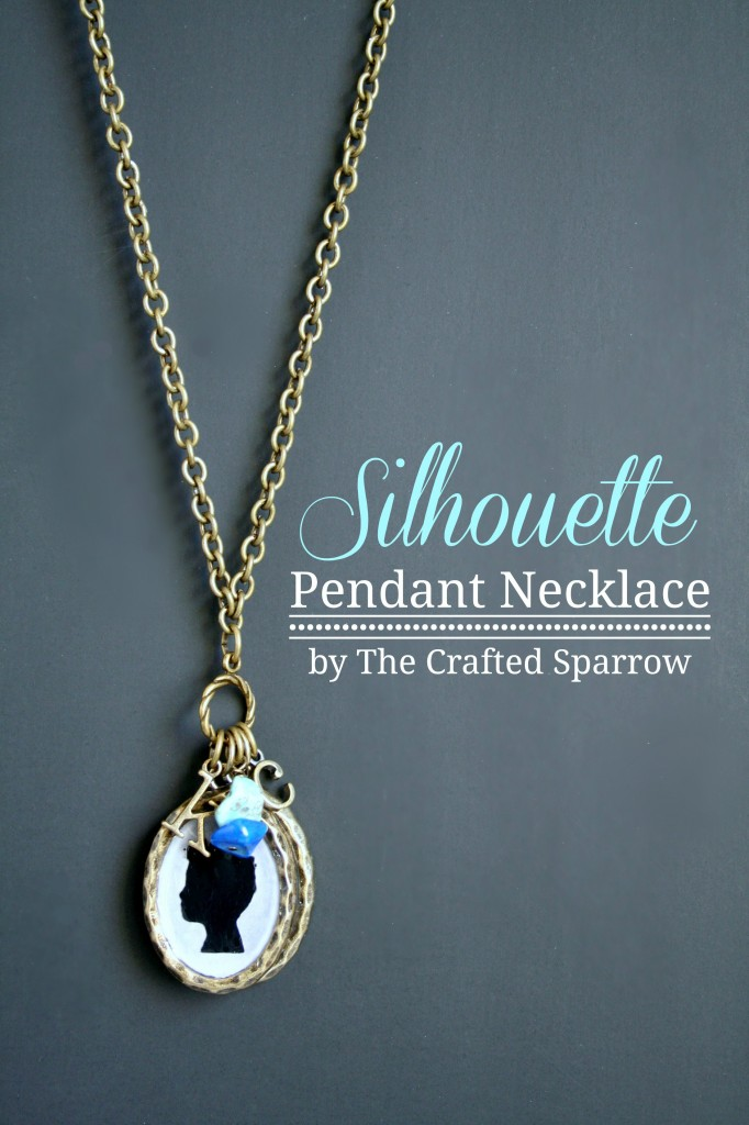 DIY Silhouette Necklace via SNAP!