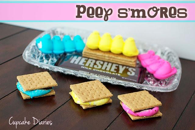 Peep Smores via Cupcake Diaries