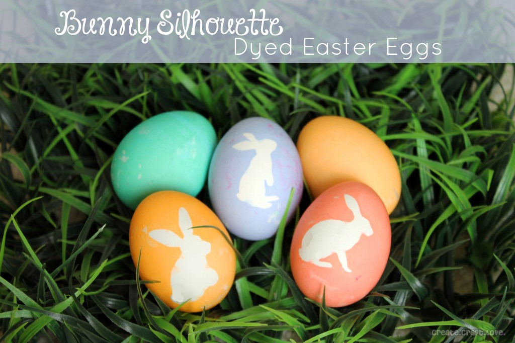 silhouette dyed easter eggs via create craft love