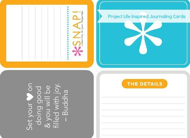 Project Life Inspired Free Printable