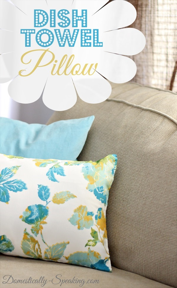 DIY dish towel pillow