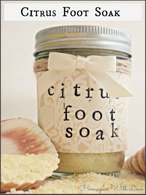 Citrus Foot Soak via Homespun with Love