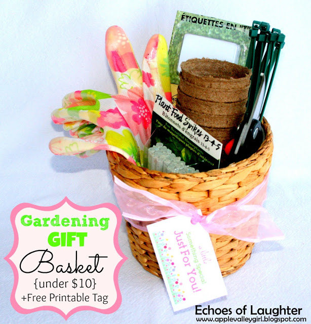 Gardening Gift Basket via Echoes of Laughter