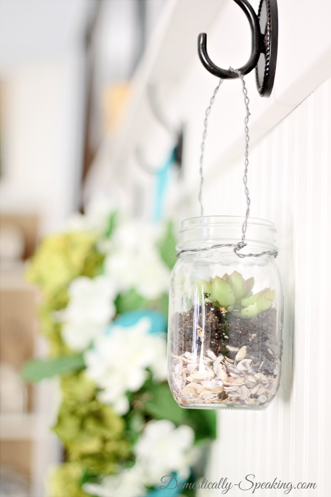 Mason Jar Succulents Domestically Speaking