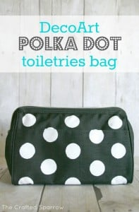 Polka Dot Toiletries Bag via The Crafted Sparrow