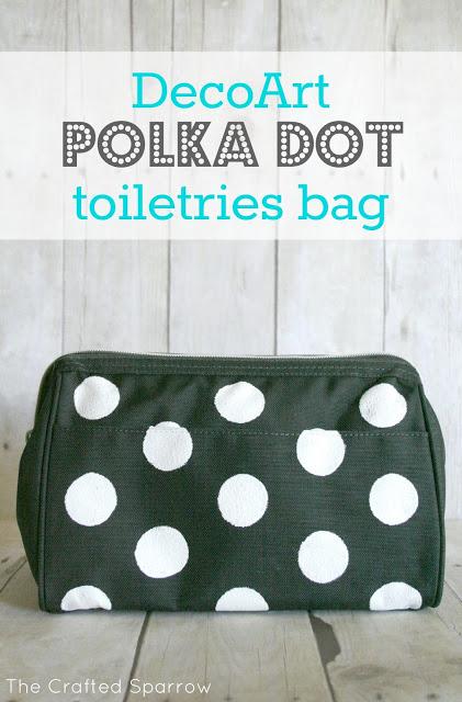 Polka Dot Toiletries Bag via The Crafted Sparrow