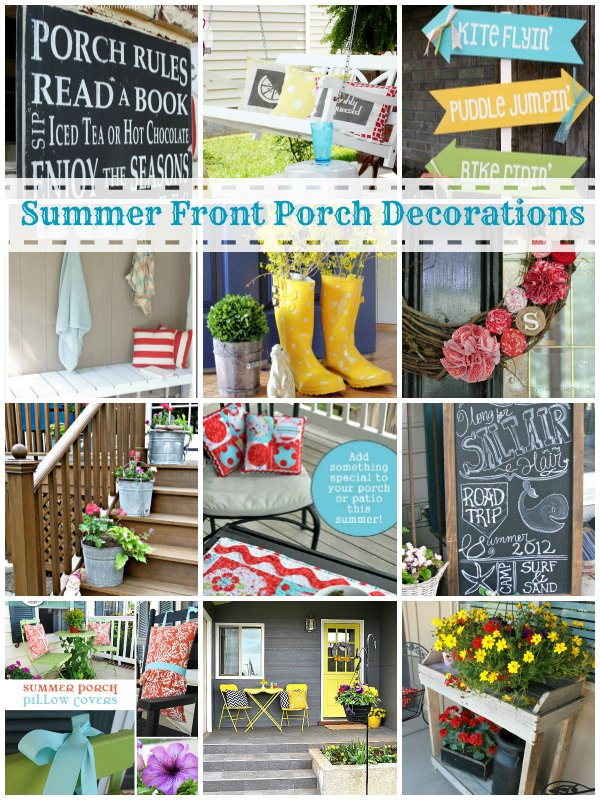 summer front porch decorating ideas tauni co. Black Bedroom Furniture Sets. Home Design Ideas
