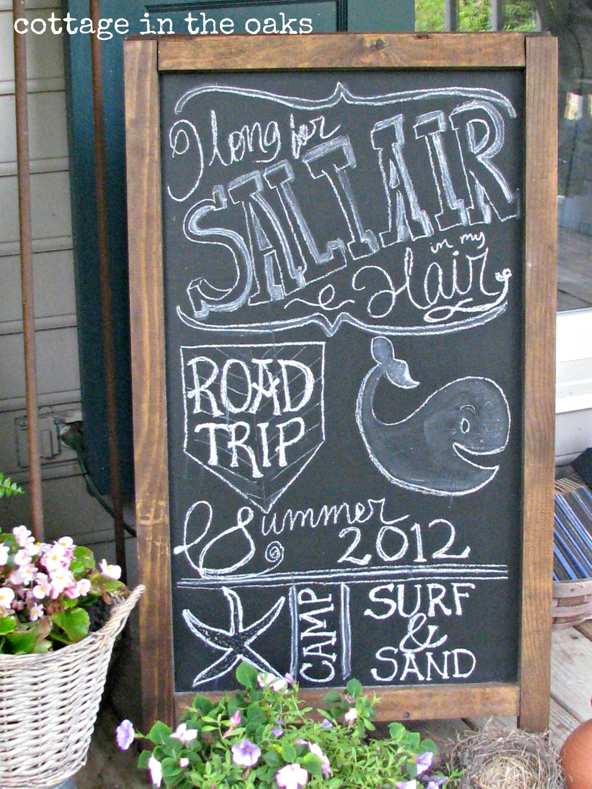 front porch chalkboard