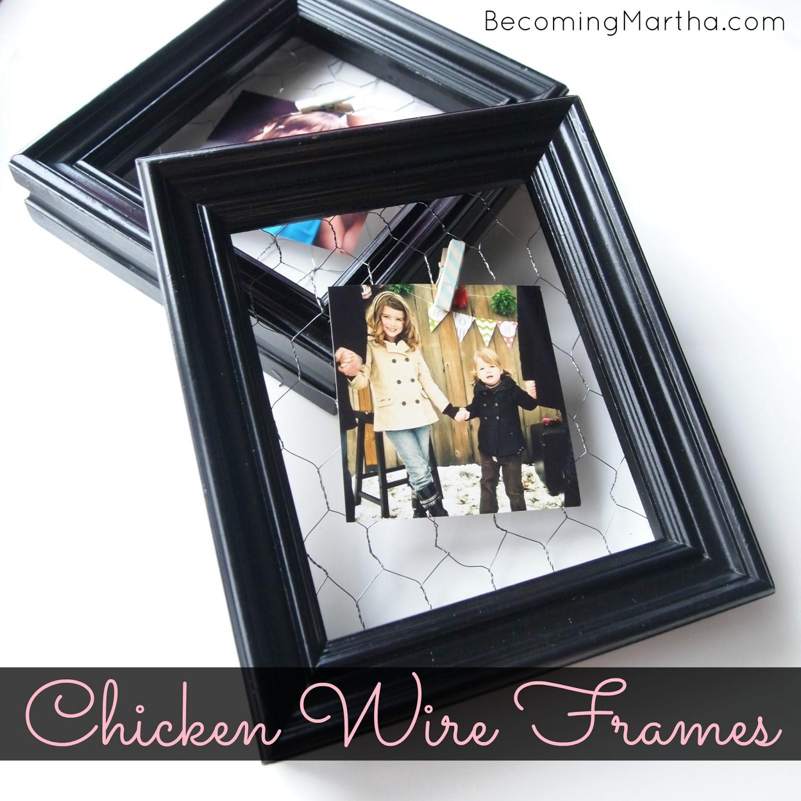 chicken wire frames via Becoming Martha