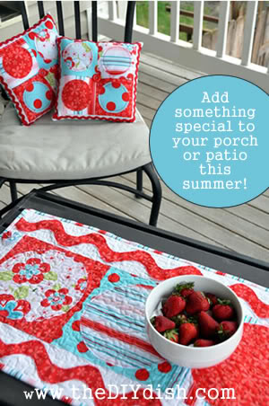 coordinating pillows & table runner