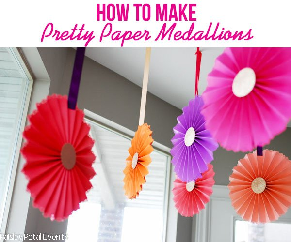 How to make pretty paper medallions