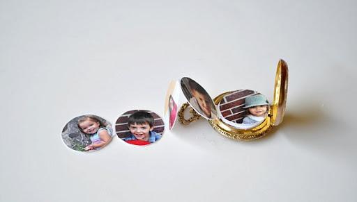 Accordion photo pocket watch