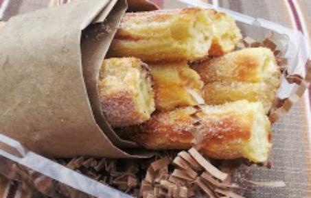 Baked Churro Recipe via Burnt Apple