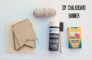 DIY Chalkboard Banner Supplies