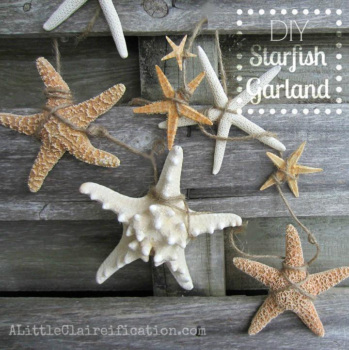 DIY Starfish Garland Tutorial via A Little Clairification
