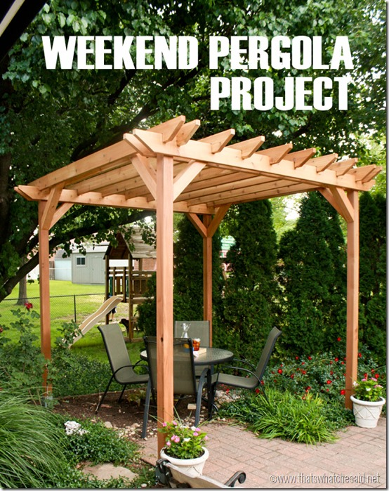 Weekend Pergola Project via That's What Che Said