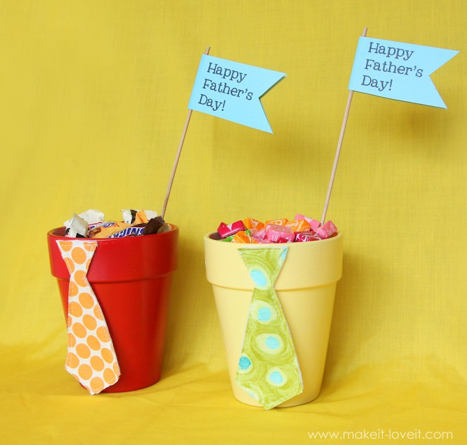 Father's Day candy pots