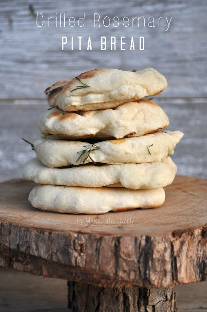 Grilled Rosemary Flat Bread, by Make Life Lovely