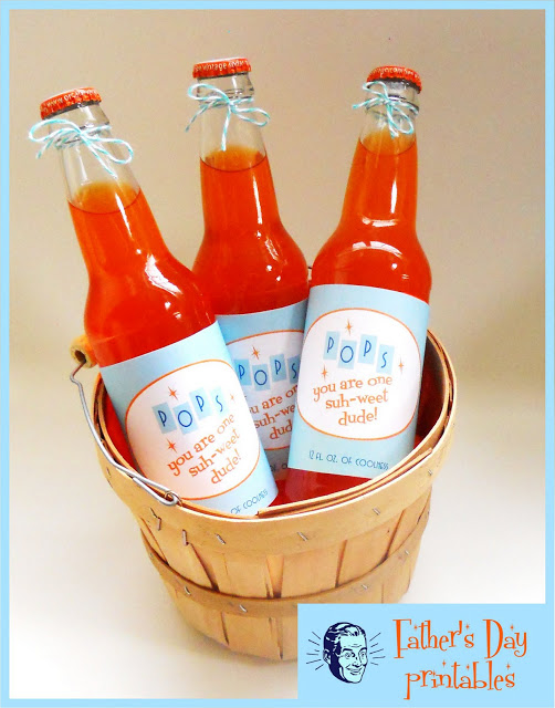 Soda pop bottles with retro vintage labels