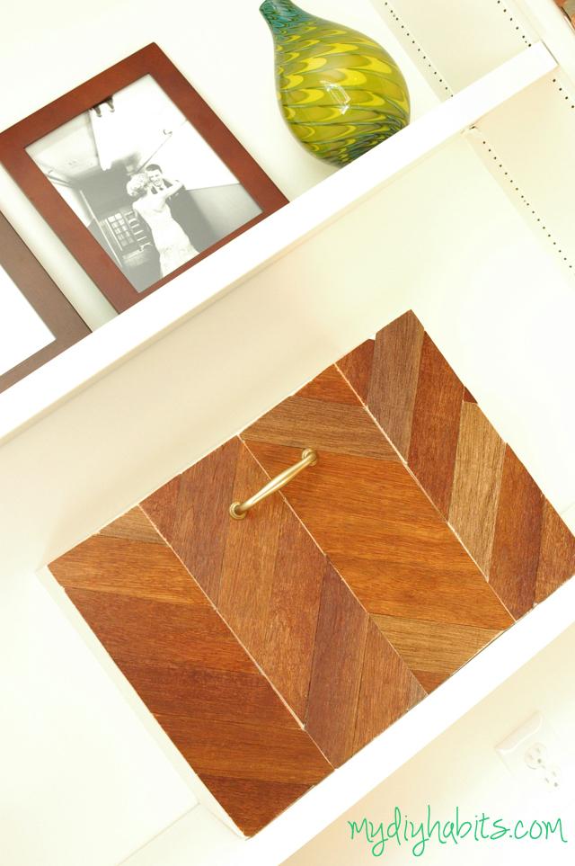 DIY Chevron Wood Box via My DIY Habit