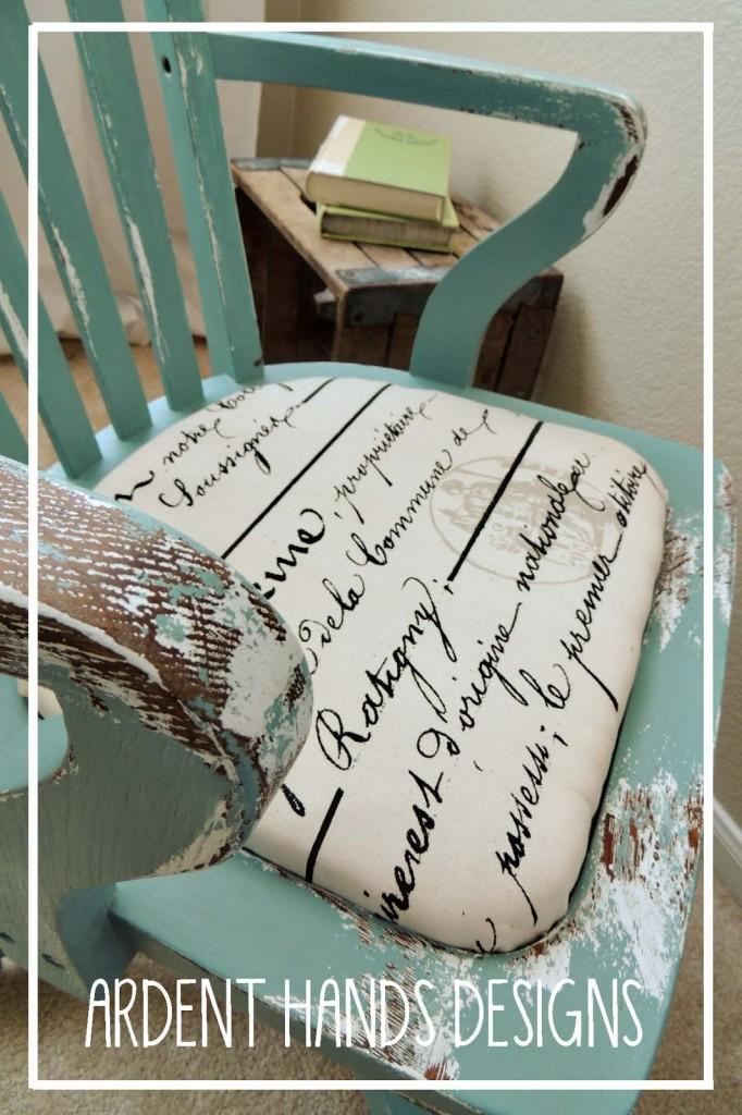 Antique Office Chair Update via Ardent Hands Design