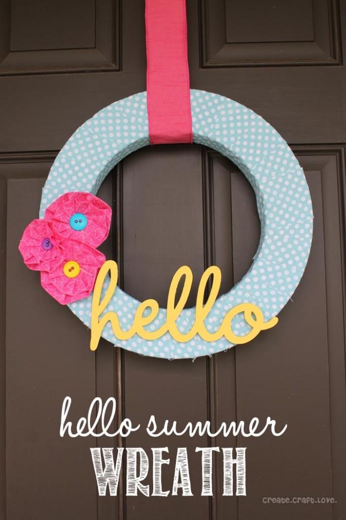 Hello Wreath via Create Craft Love