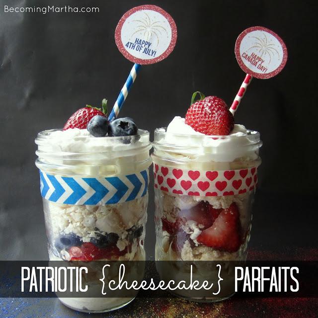 patriotic cheesecake parfaits