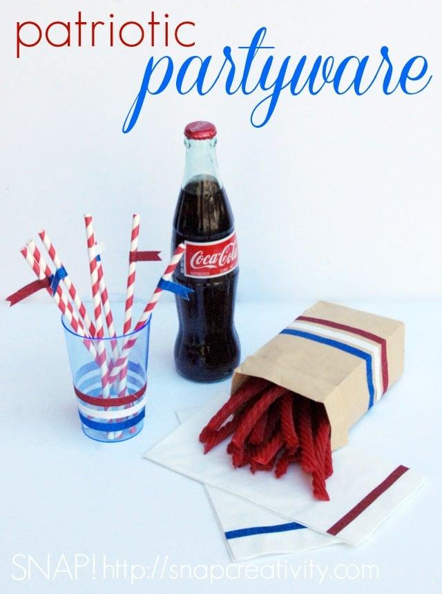 DIY Patriotic Partyware