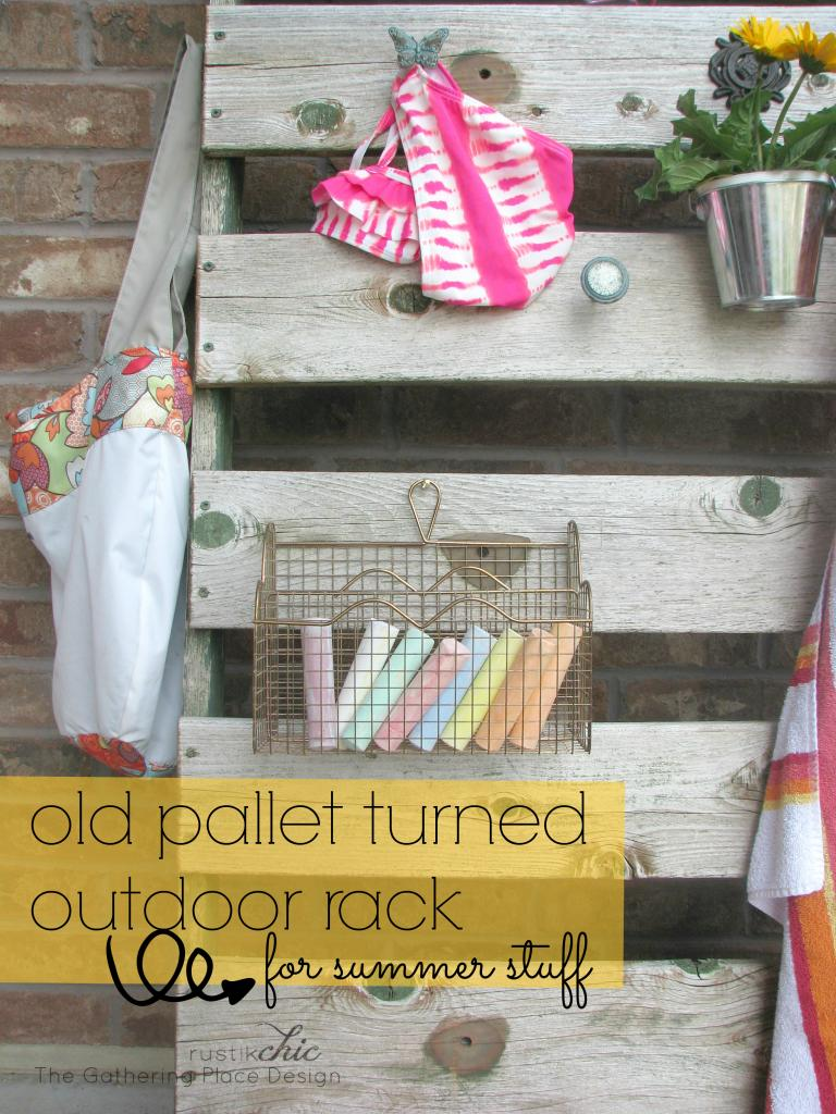 Outdoor pallet storage via Rags to Stitches