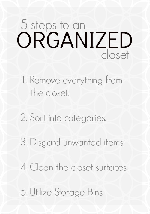 Five Steps to Organizing Your Closet