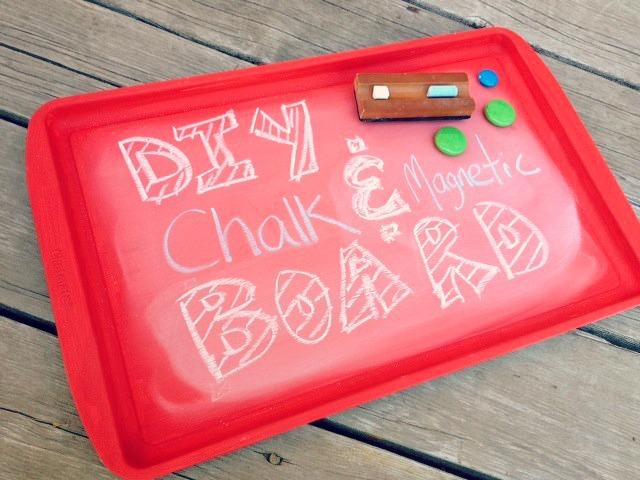 DIY chalk & magnet board
