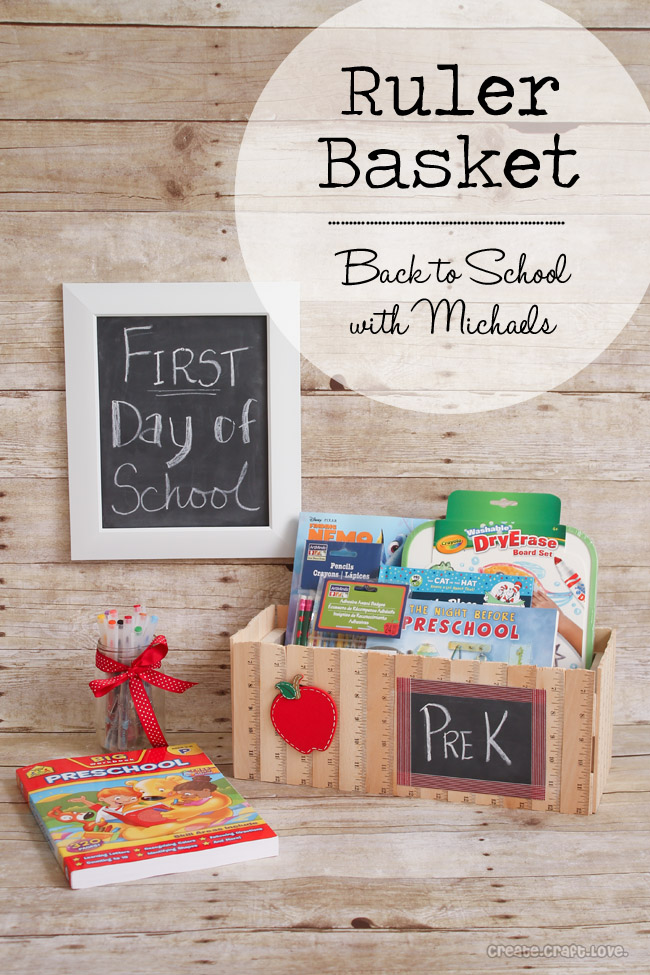 Back to School Ruler Basket via Create Craft Love